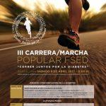 Cartel de la carrera Correr juntos por la diabetes