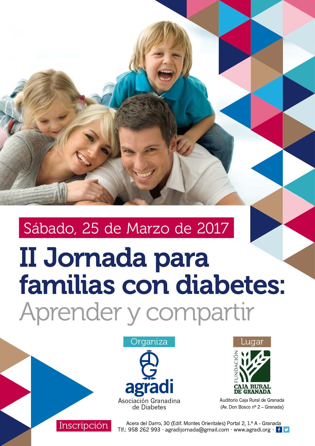 Cartel Jornadas familias de niños con diabetes