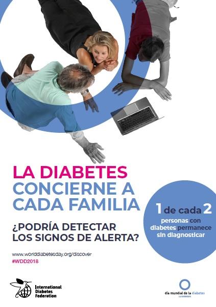 Diabetes y familia para prevenir los signos