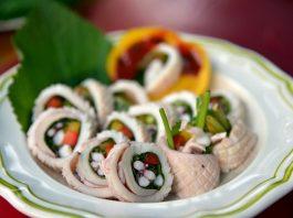 Calamares rellenos con verduras