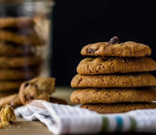 Receta de galletas de avena con chocolate