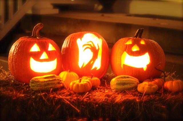 Decoración de calabazas de Halloween