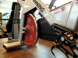 Bici de spinning en gimnasio